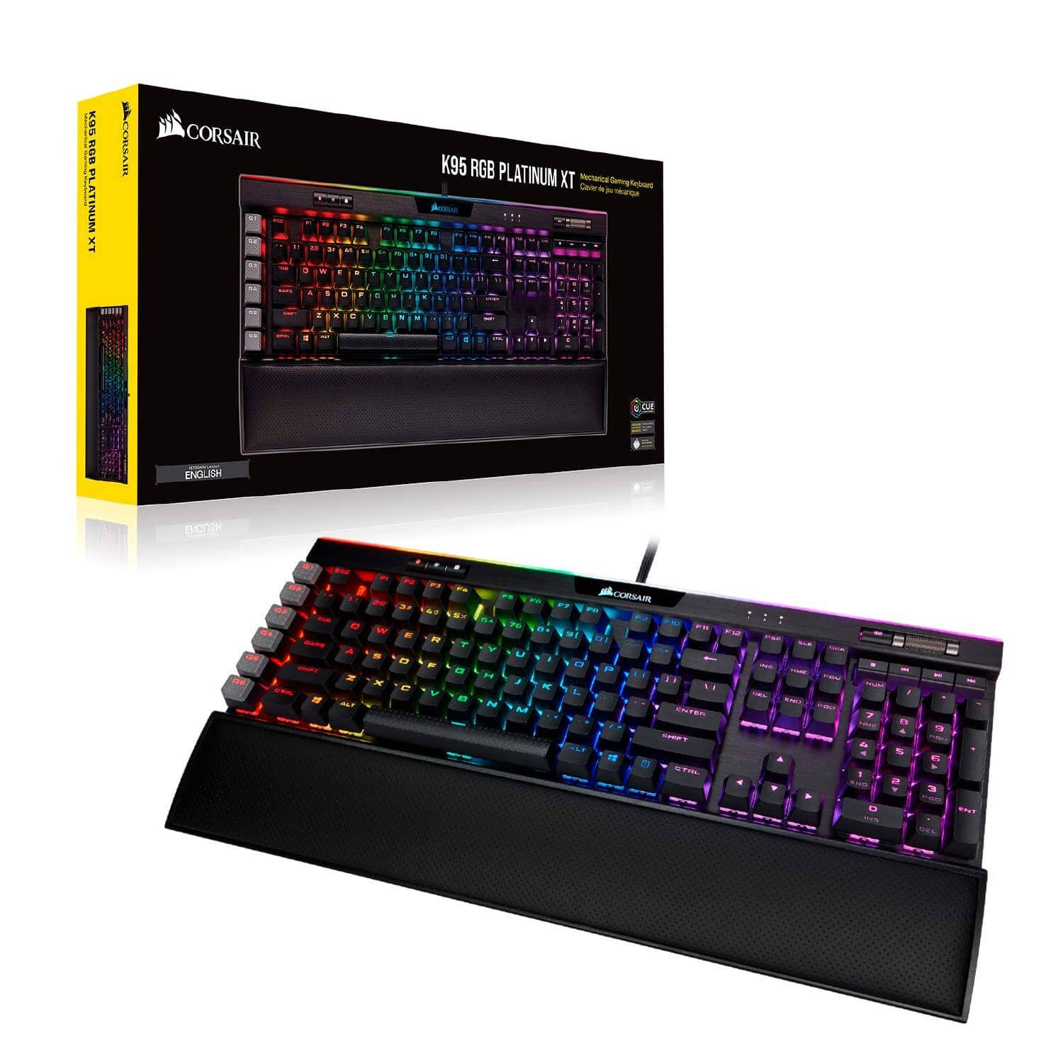 Corsair K95 RGB Platinum XT Mechanical Gaming Keyboard w/ CHERRY MX SPEED Silver (Black) - $169.99 + FS