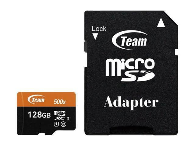 Team 128GB microSDXC UHS-I/U1 Class 10 Memory Card with Adapter, Speed Up to 80MB/s - $14.99 + FS