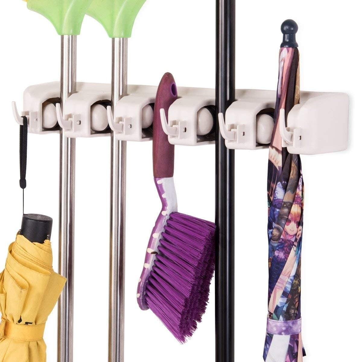 Costway Wall-Mounted Mop Holder Hanger with 5 Positions for $14 + Free Shipping