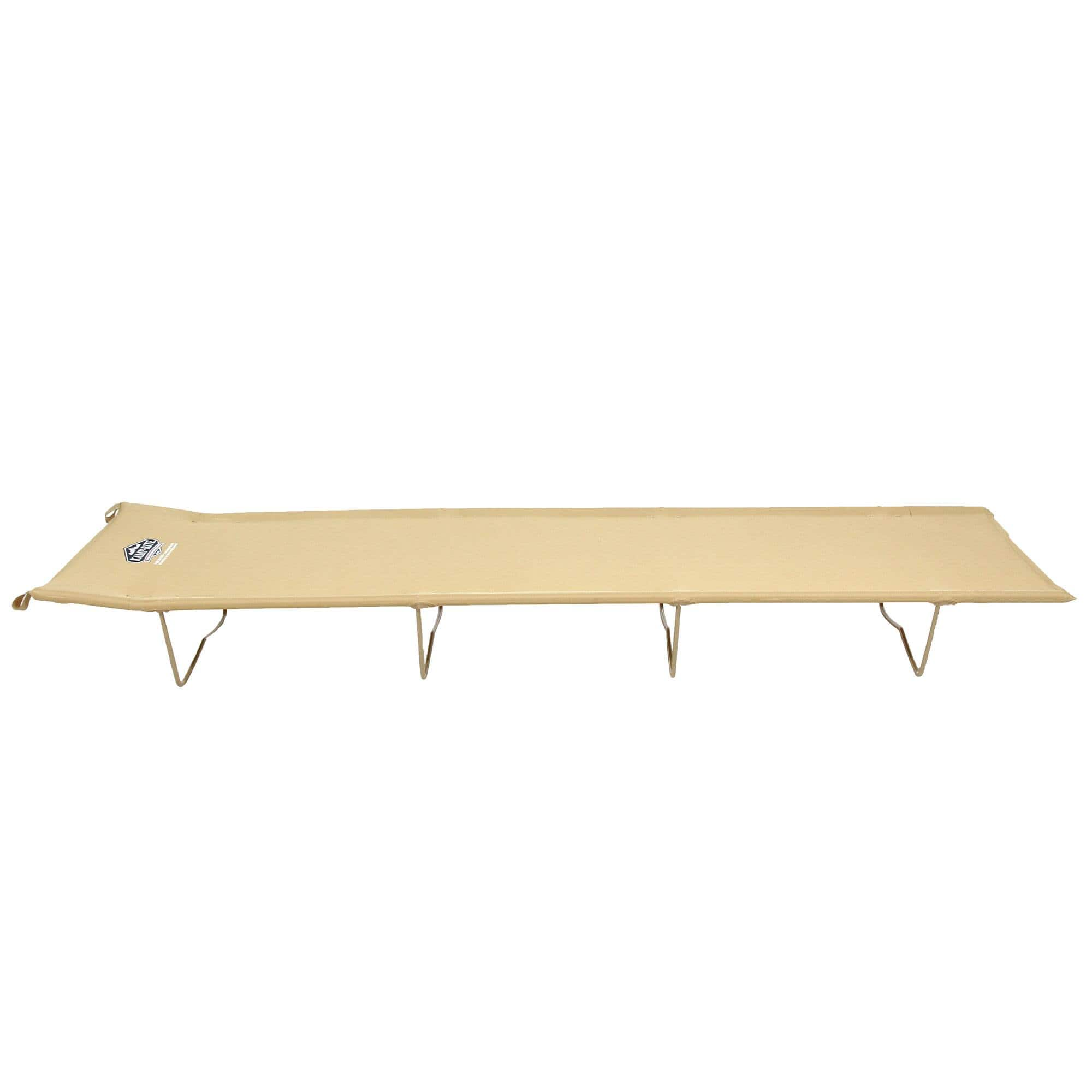 Kamp-Rite Economy 84x53x40 Inch Compact Light Backpacking Camping Bed Cot, Tan $27.99 + FS