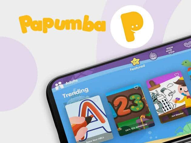 Papumba Fun Learning App for Kids: Lifetime Subscription $37.50