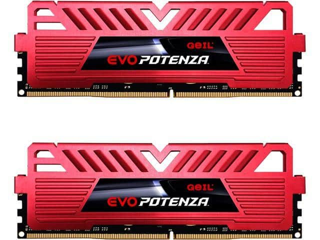 GeIL EVO POTENZA 16GB (2 x 8GB) 288-Pin DDR4 SDRAM DDR4 3200 (PC4 25600) Intel XMP 2.0 Desktop Memory for $62.99 + FS