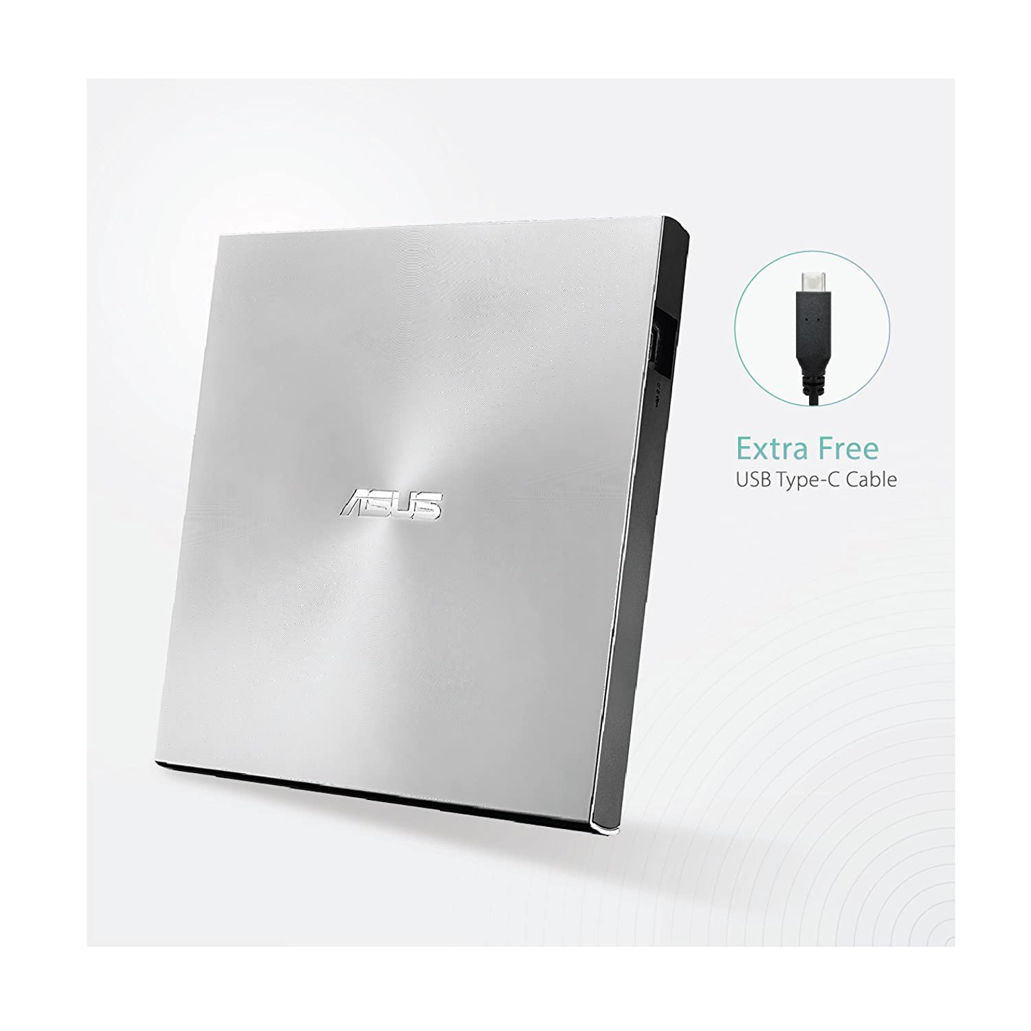 ASUS ZenDrive Silver 13mm External 8X DVD/ Burner Drive +/-RW with M-Disc Support fr $26.56 + FSSS