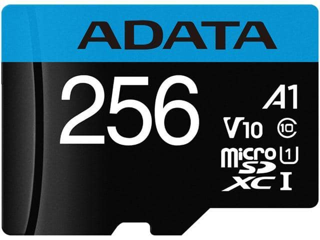 ADATA 256GB Premier microSDXC UHS-I / Class 10 V10 A1 Memory Card with SD Adapter $27.99 + FS