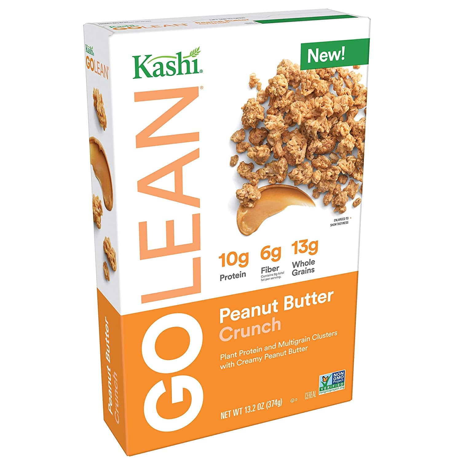 Kashi GO Peanut Butter Crunch Cereal - Vegan | Non-GMO | 13.2 Ounce for $2.54 w/ S&S + FS