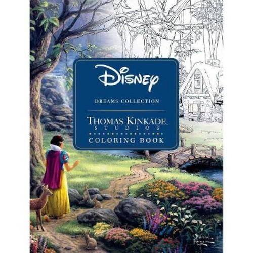 Disney Dreams Collection Thomas Kinkade Studios Coloring Book Paperback $7.79
