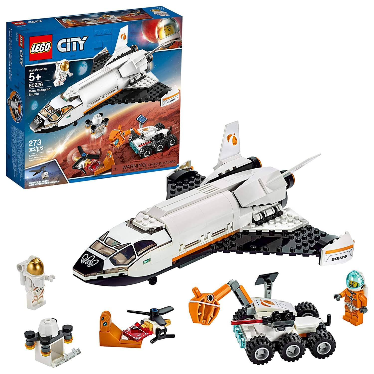 LEGO City Space Mars Research Shuttle 60226 Space Shuttle Toy Building Kit with Mars Rover and Astronaut Minifigures for $31.99 + FSSS