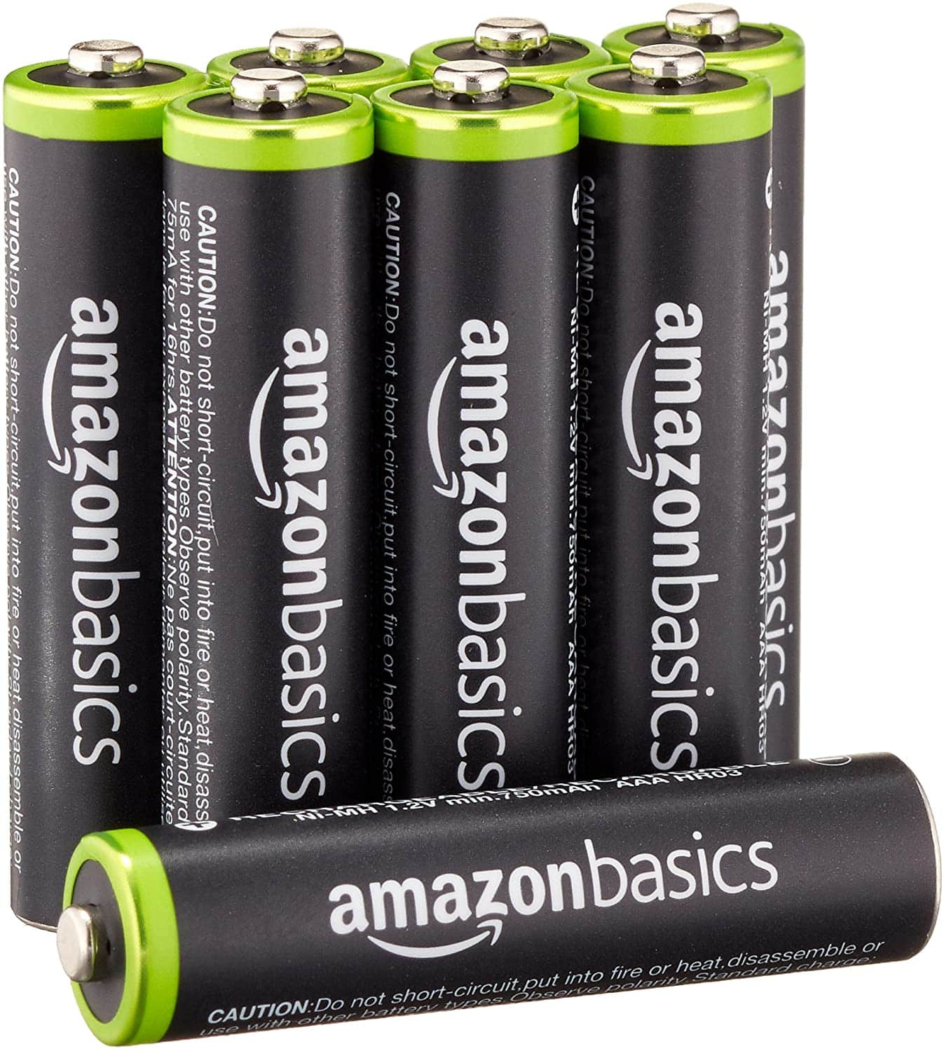 AmazonBasics AAA Rechargeable Batteries (800 mAh), Pre-charged - Pack of 8 for $9.74 w S&S + FS