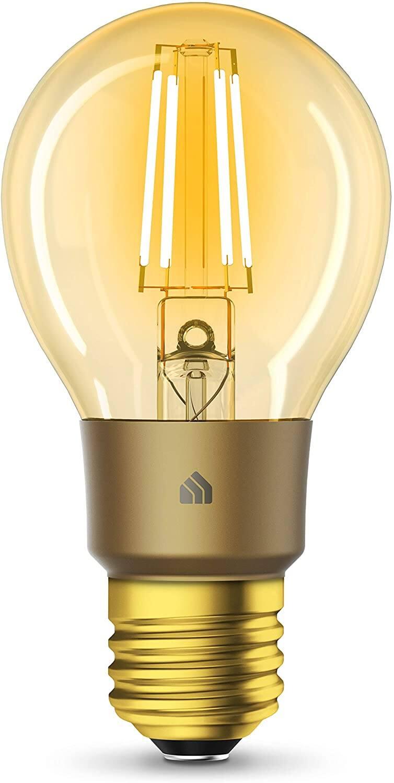 Kasa Smart Wi-Fi LED Bulb by TP-Link, Filament A19 E26 Smart Light Bulb, Warm Amber 2000K, Dimmable (KL60) $14.99 + FSSS