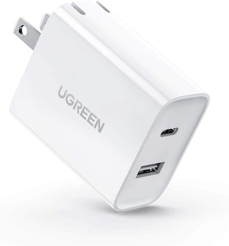 UGREEN USB C 30W 2-Port Fast Charger with 18W PD Wall Charger Foldable Plug  $12.99 + FSSS