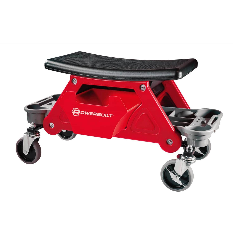 Powerbuilt 240036 Heavy Duty Rolling Workshop Creeper Bench, 300 Pound Capacity $72.99
