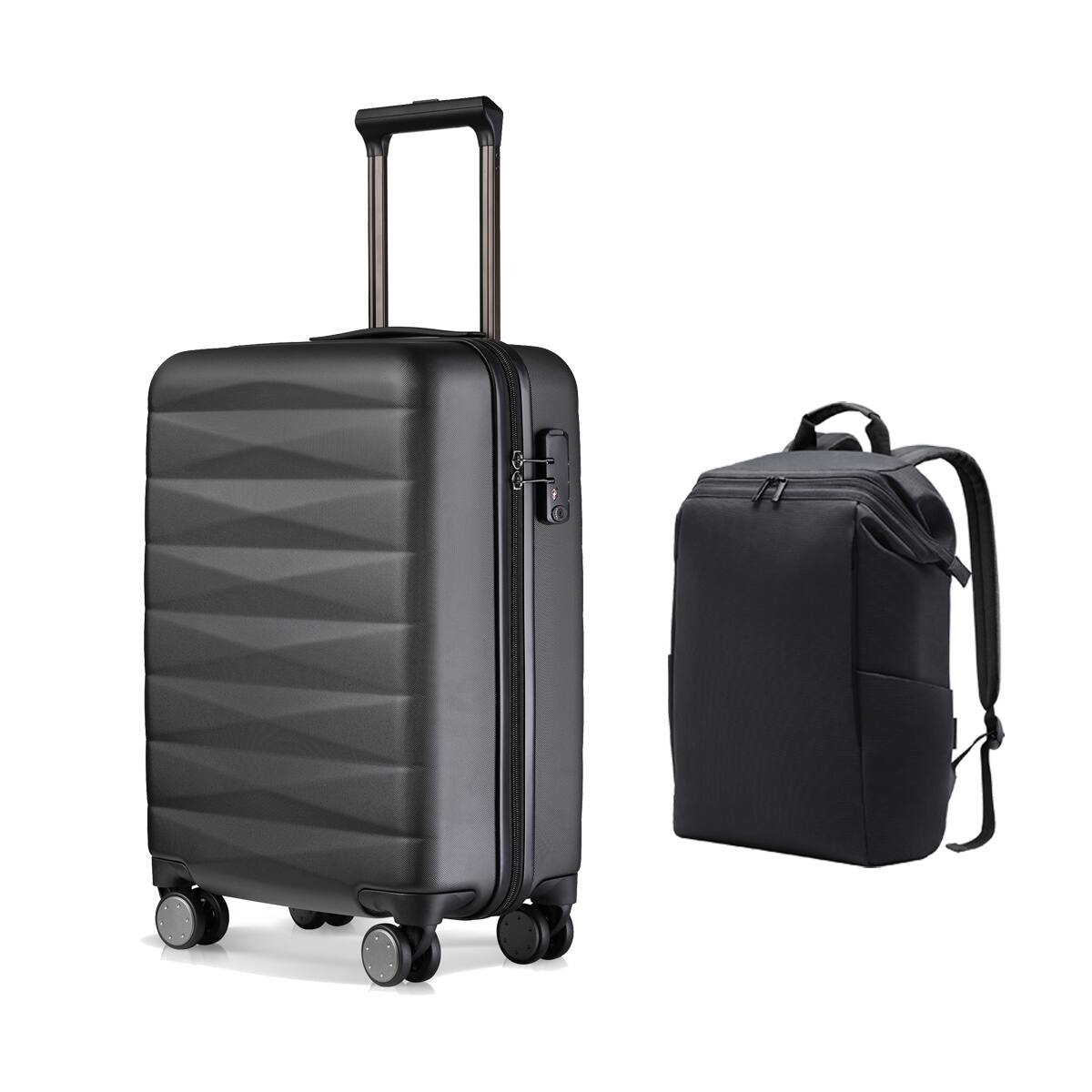 NINETYGO 100% PC Lightweight Carry on Luggage + Laptop Backpack Black $89.98, NINETYGO Carry on Luggage Front Pocket + Laptop Backpack Dark Gray Luggage Tag $139.99 & More
