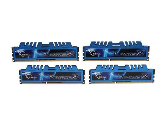 G.SKILL Ripjaws X Series 32GB (4 x 8GB) DDR3 1600 Desktop Memory - $139.95 + FS