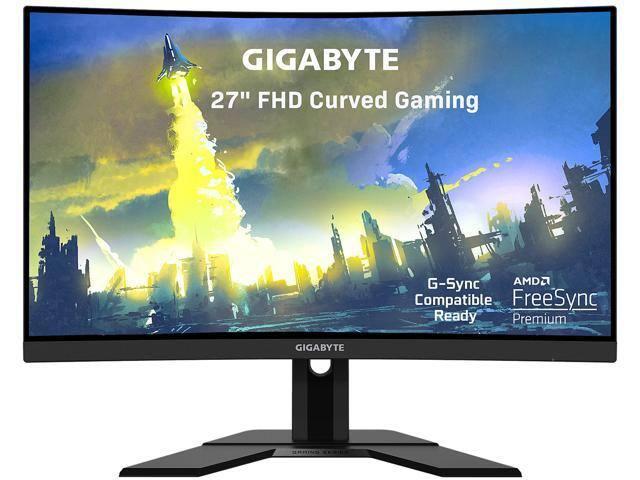 "GIGABYTE G27FC 27"" 165Hz 1080P Curved Gaming Monitor - $217.49 AC AR + FS"