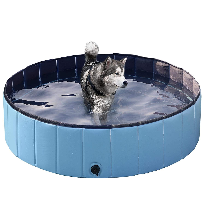 Yaheetech Foldable Hard Plastic Large Dog Pet Bath Swimming Pool $37.99 AC + FSSS