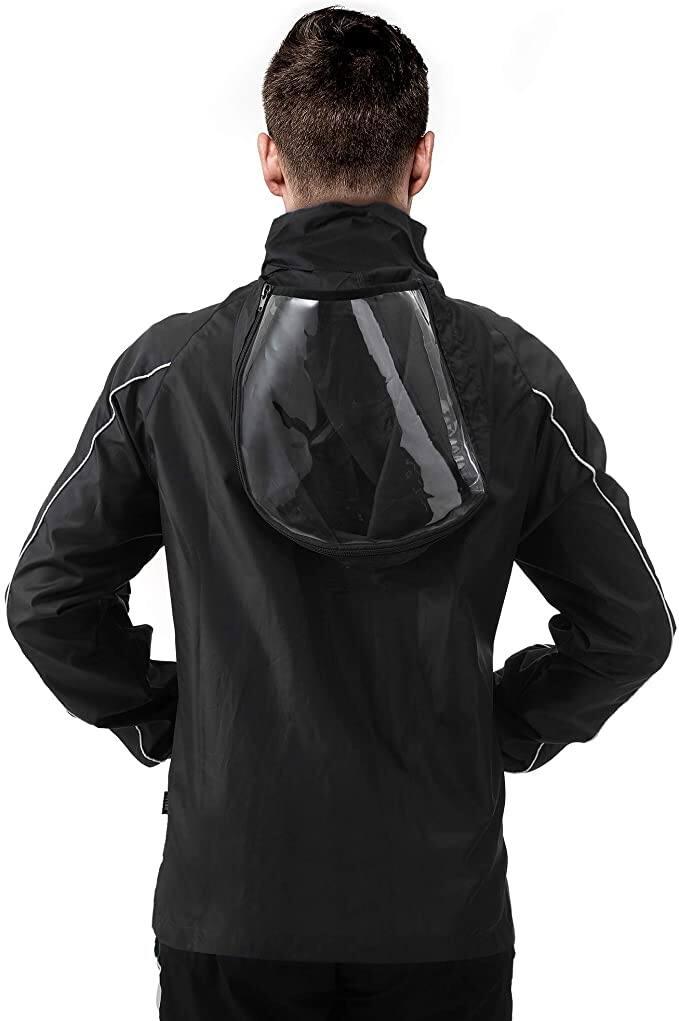 PEAK Waterproof Hooded Raincoat Lightweight Rain Jacket $23.99 AC + FSSS