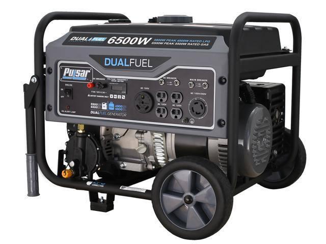 Pulsar G65BN Portable Gas/LPG Dual Fuel Generator - 5500 Rated Watts & 6500 Peak Watts - $549.99 + FS