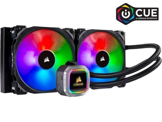 CORSAIR Hydro Series, H115i RGB PLATINUM, 280mm, 2 x ML PRO 140mm RGB PWM Fans  Liquid CPU Cooler - $154.99 AC + FS