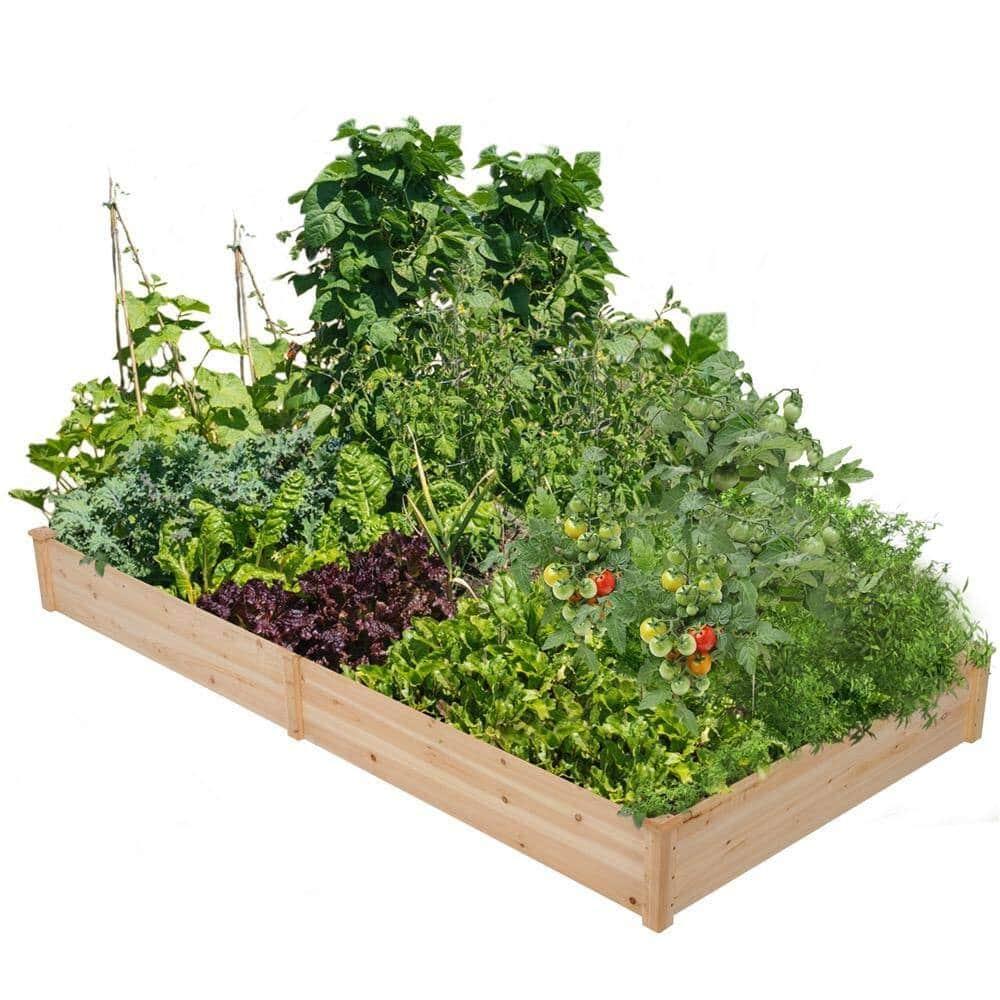 """Yaheetech Wood Raised Garden Bed Boxes Kit 48.5"""" W x 97"""" L x 10.5"""" H for $65.24 AC + Free Shipping"""