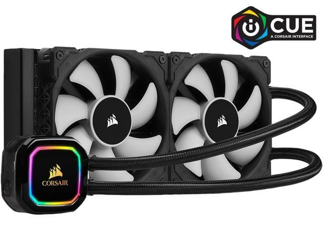 CORSAIR iCUE H100i RGB PRO XT, 240mm Radiator, Dual 120mm PWM Fans, Software Control, Liquid CPU Cooler for $104.99 AR + FS