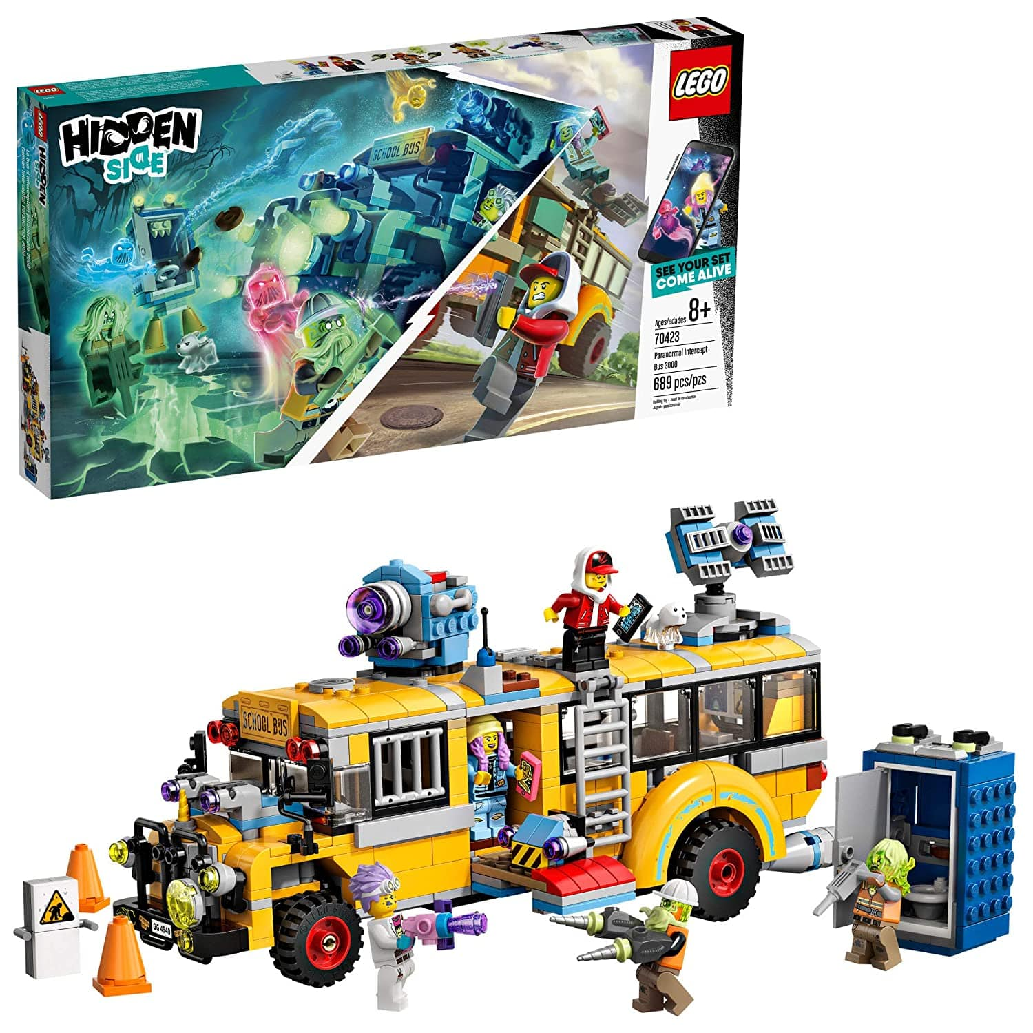 LEGO Hidden Side Paranormal Intercept Bus 3000 70423 Augmented Reality [AR] Building Kit with Toy Bus and Toy App $47.22 + FSSS