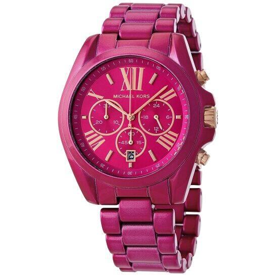 MICHAEL KORS Bradshaw or Ritz Pave Chronograph Pink Ladies Watches - $79.99 Shipped