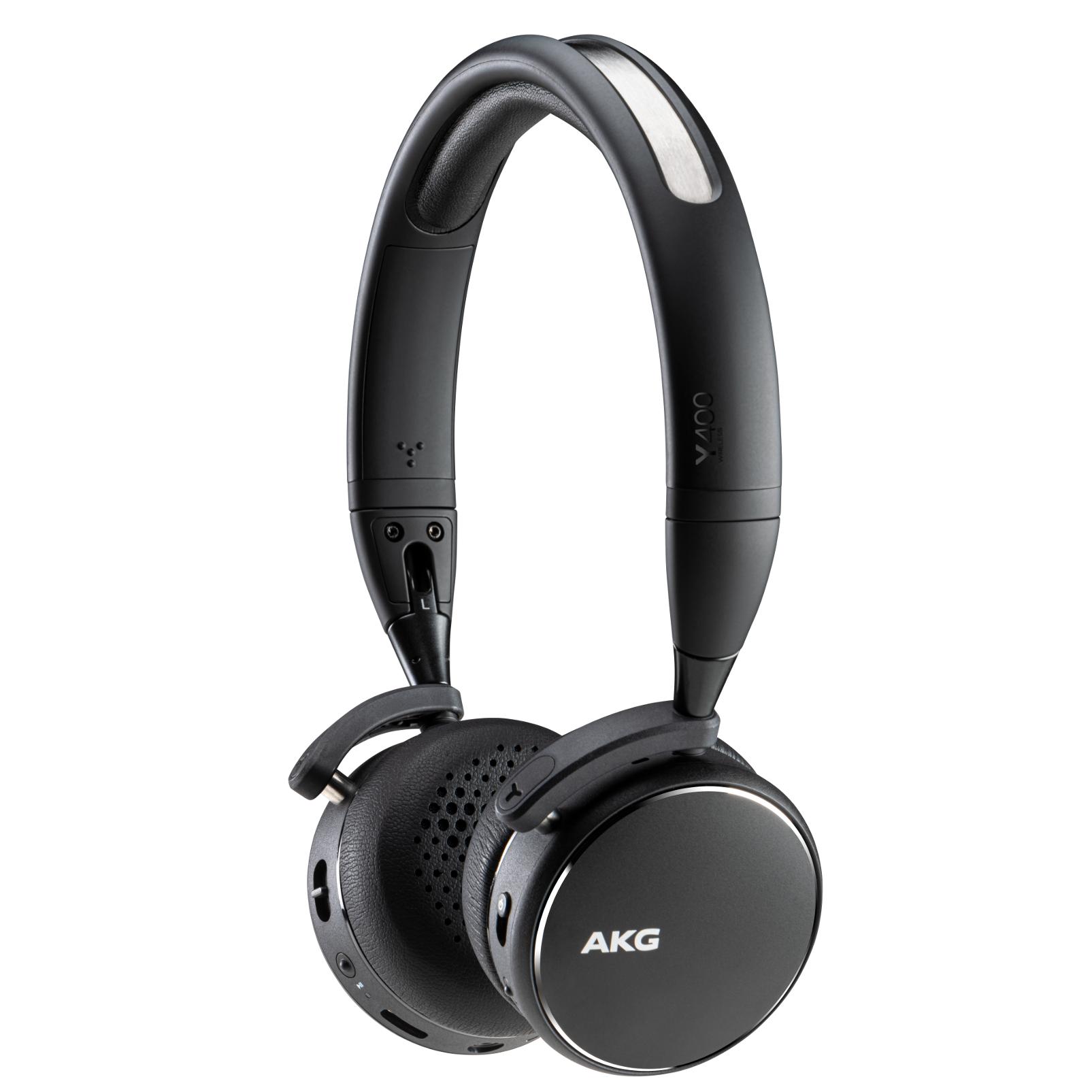 AKG Y400BT Bluetooth On Ear Headphones $29.99 + Free