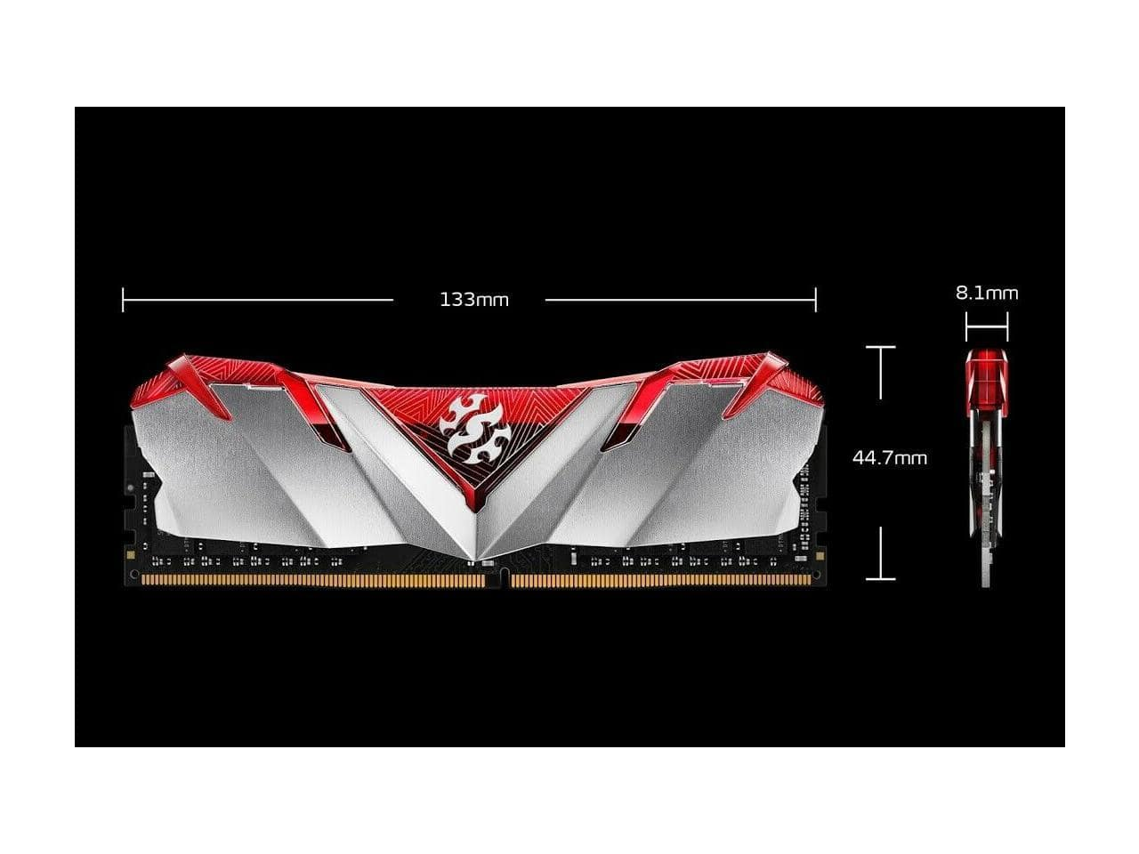 XPG GAMMIX D30 Desktop Memory: 16GB (2x8GB) DDR4 3600MHz CL18 Black + $10 NE GC for $67.99 + FS