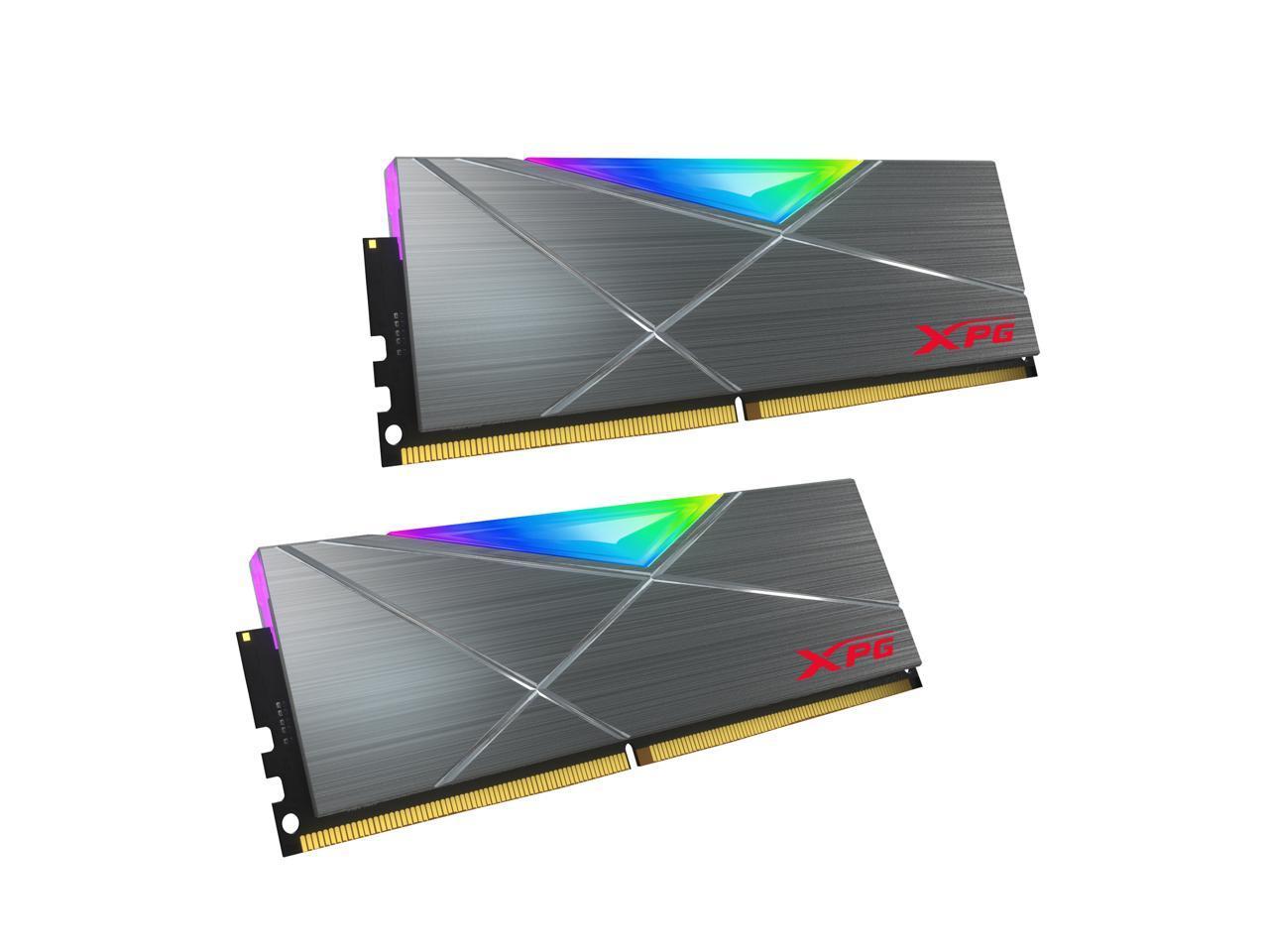 XPG SPECTRIX D50 16GB (2 x 8GB) DDR4 3600 (PC4 28800) CL18 RGB Desktop Memory + $10 Newegg Gift Card for $74.99 + FS