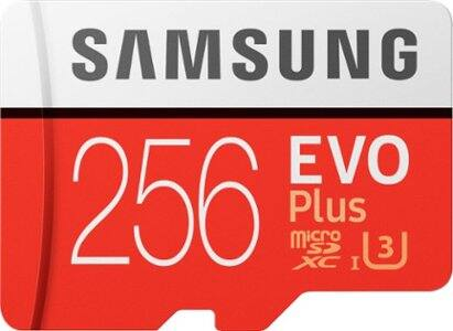 Samsung EVO Plus microSDXC UHS-I Memory Card: 128GB for $20.89, 256GB for $44.99, 512GB for $89.99