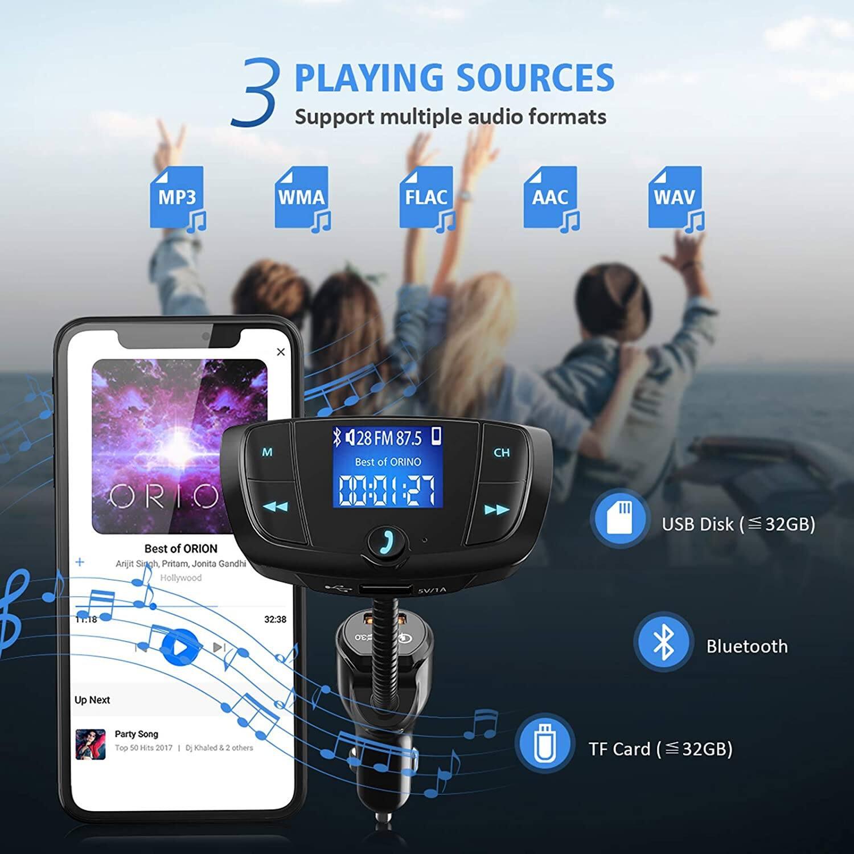 VicTsing Bluetooth FM Transmitter + MP3 Player w/ Dual USB Ports (1x QC 3.0) for $7.99 AC + FSSS