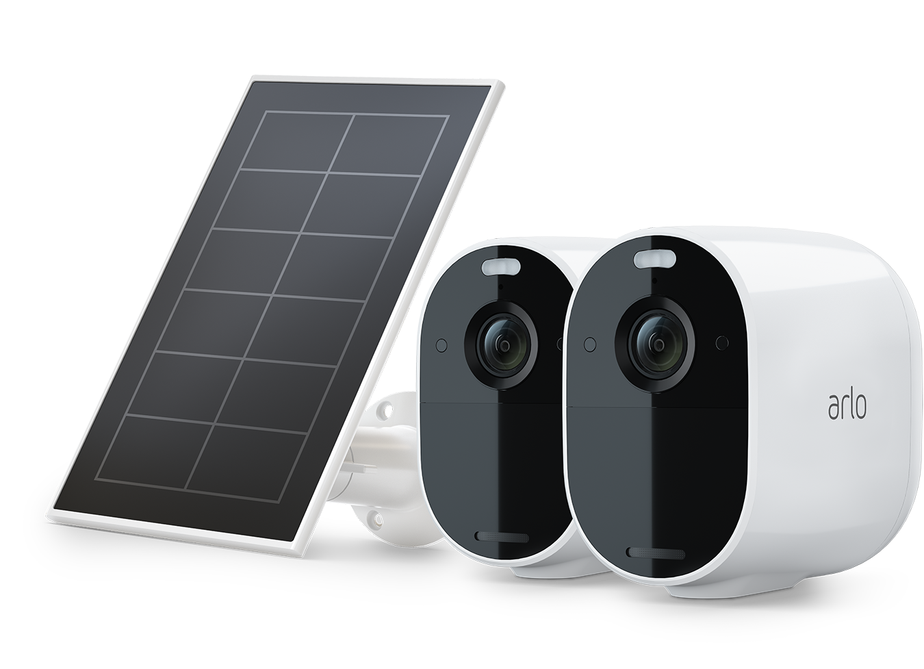 2-Pack Arlo Essential 1080p Wireless Security Cameras with Solar Panel for $179.99 + Free Shipping