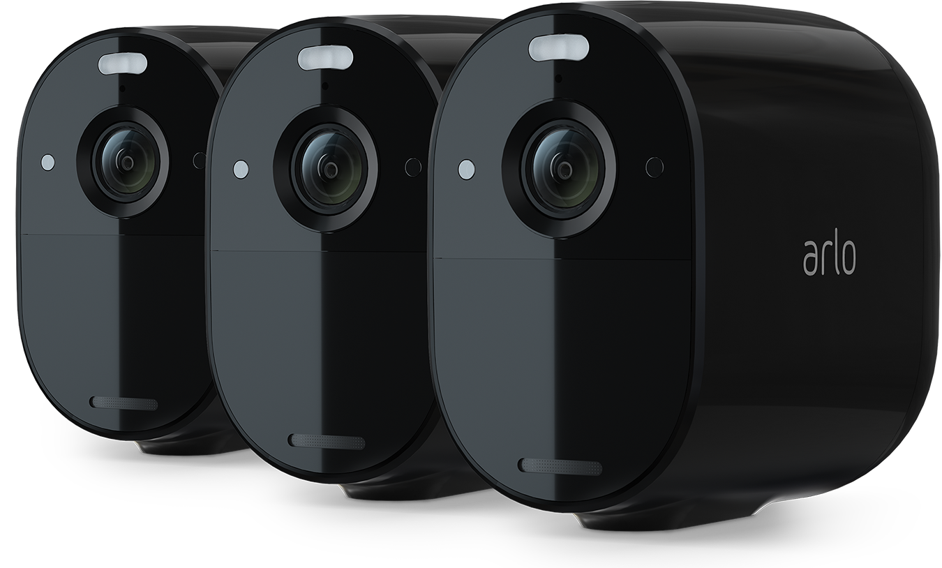 Arlo Essential Spotlight Camera (3 Pack, Black) - $299.99 + Free Shipping w/ Prime