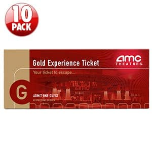 10-Pack AMC Gold Movie Tickets $63 + Free Shipping