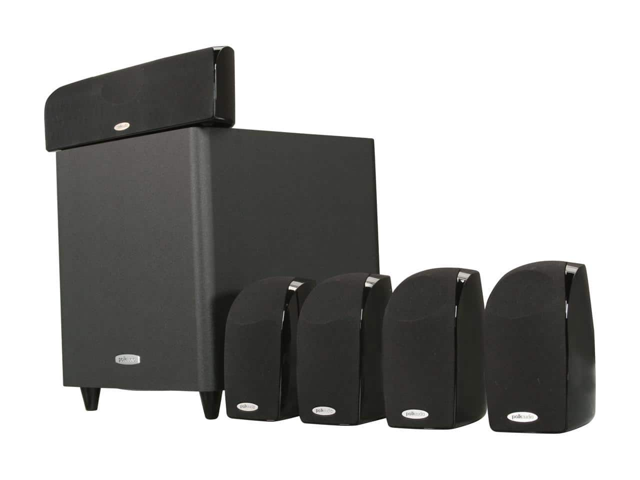 Polk Audio TL1600 5.1 Compact Surround Sound Home Theater System with Powered Subwoofer $179 + FS