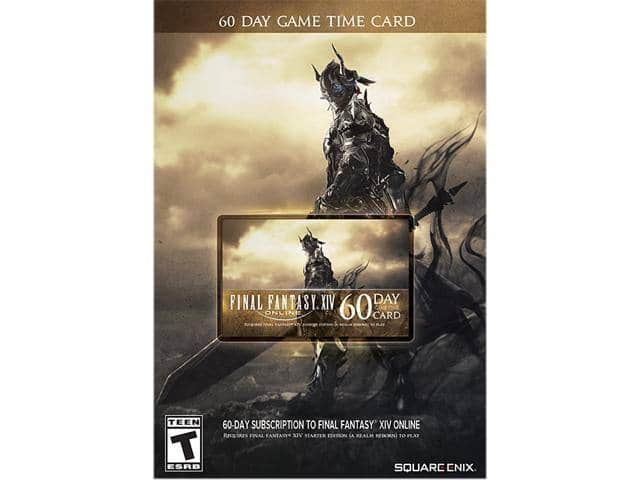 Final Fantasy XIV Online: 60 Day Time Card [Online Game Code] AC $24.79