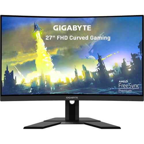 "GIGABYTE G27FC 27"" 16:9 Curved 165 Hz Adaptive-Sync VA Gaming Monitor $199.99 AR"
