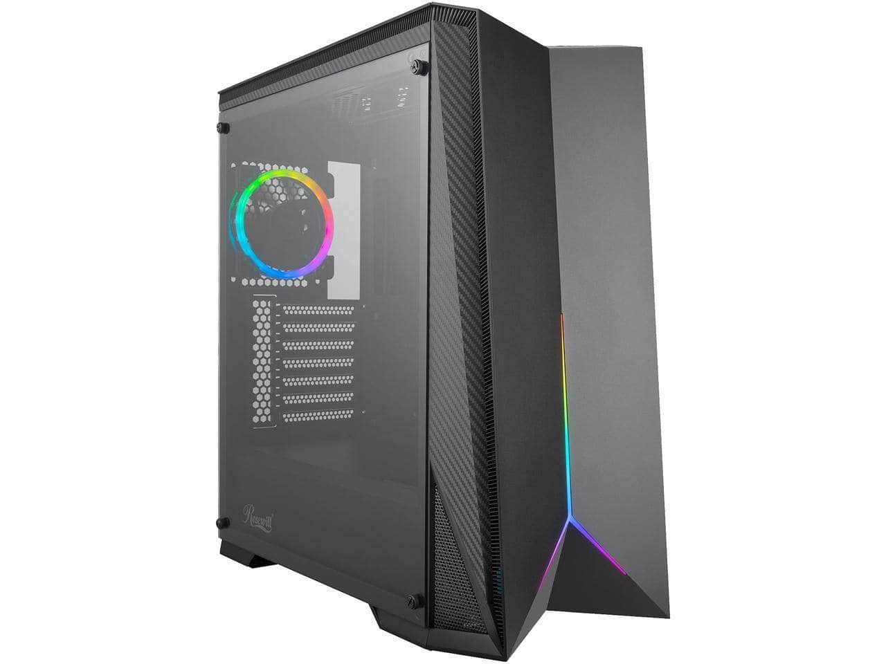 Rosewill ATX Mid Tower Gaming PC Computer Case with RGB Fan & LED Light Strip for $49.99 Shipped