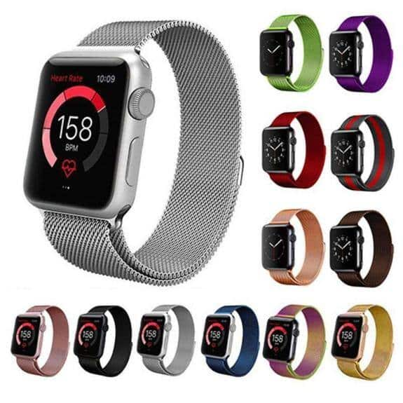 Stainless Steel Milanese Loop Band Replacement for Apple Watches Series 1-6 and SE $7.99 + FS