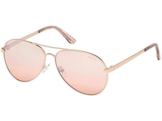 Guess Women's Classic Aviator Sunglasses w/ Mirror Lens (Rose Gold) $19.99, Guess Polarized Metal Brow-Line Sunglasses (Matte Black) $21.99 & More + Free Shipping
