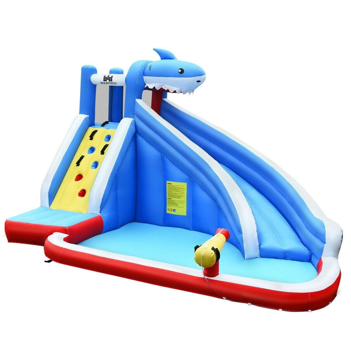 Costway Inflatable Water Slide Shark Bounce House Castle without Blower for $219.95 + FS