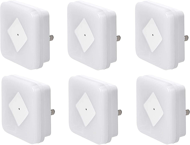 6-Pack Amazon Basics LED Plug-in Night Light with Dusk to Dawn Sensor for $9.31 + FSSS