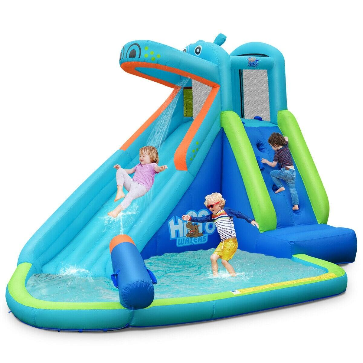 Costway Kids Hippo Inflatable Bounce House with Bag $206.95 + FS