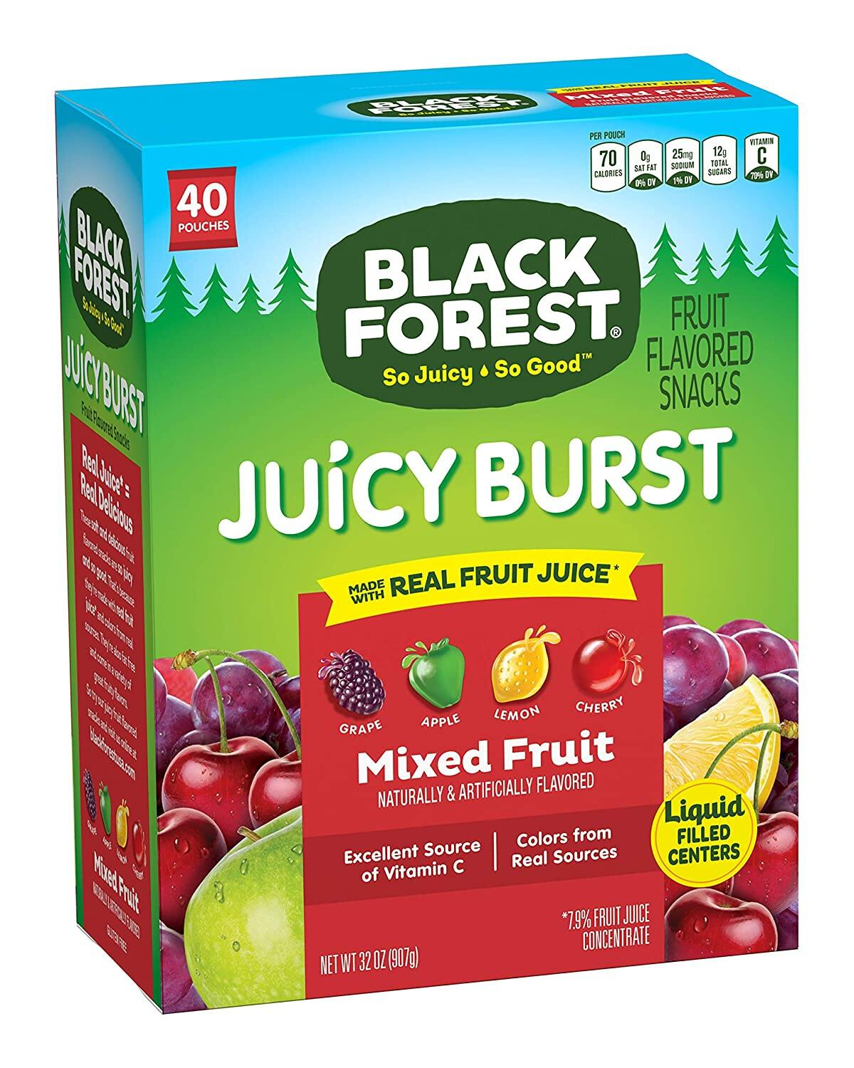 40-Count 0.8oz Black Forest Medley Juicy Center Fruit Snacks $5.66 or less w S&S + FSSS