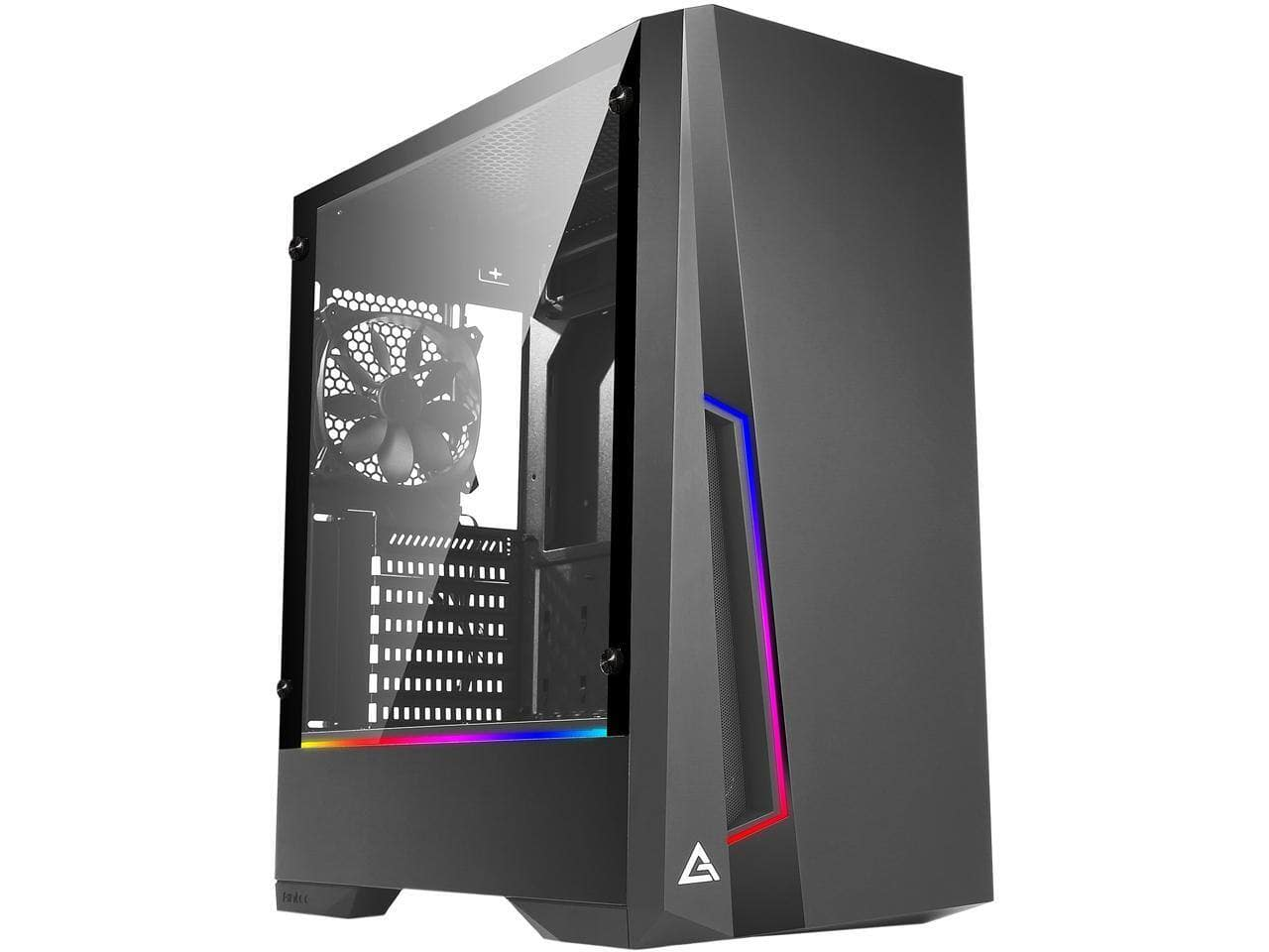 Antec Dark Phantom ATX Mid Tower Gaming Case (w/ ARGB Motherboard Sync) for $49.99 after Mail-in Rebate + FS
