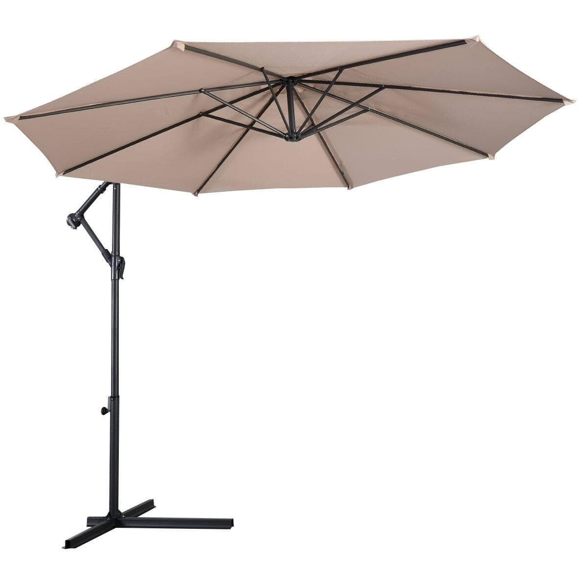 Costway 10' Patio Outdoor Sunshade Hanging Umbrella without Weight Base $77.95 + FS