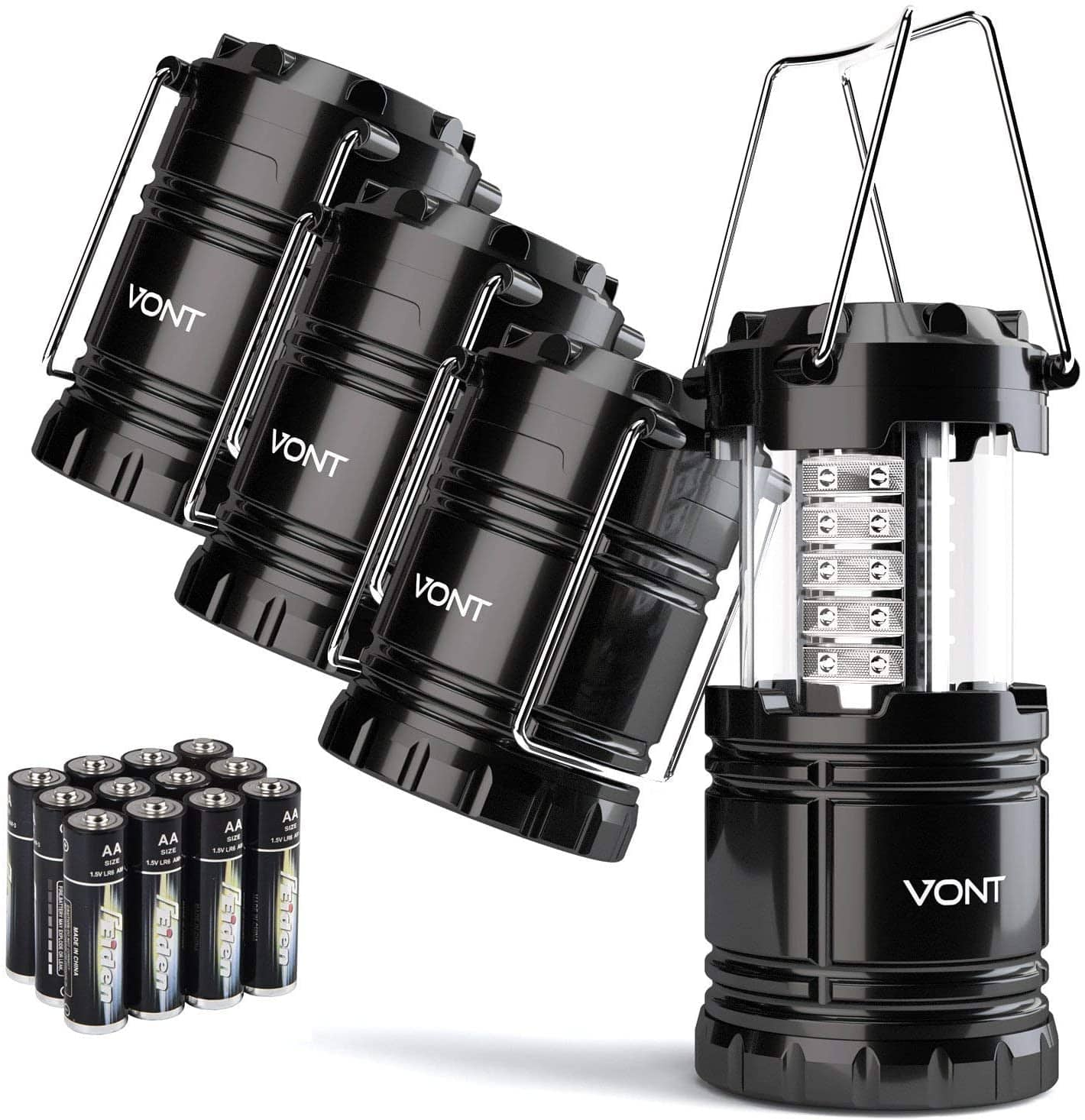 4-Pack Vont LED Collapsible Lanterns $15.99 + FS w/ Prime