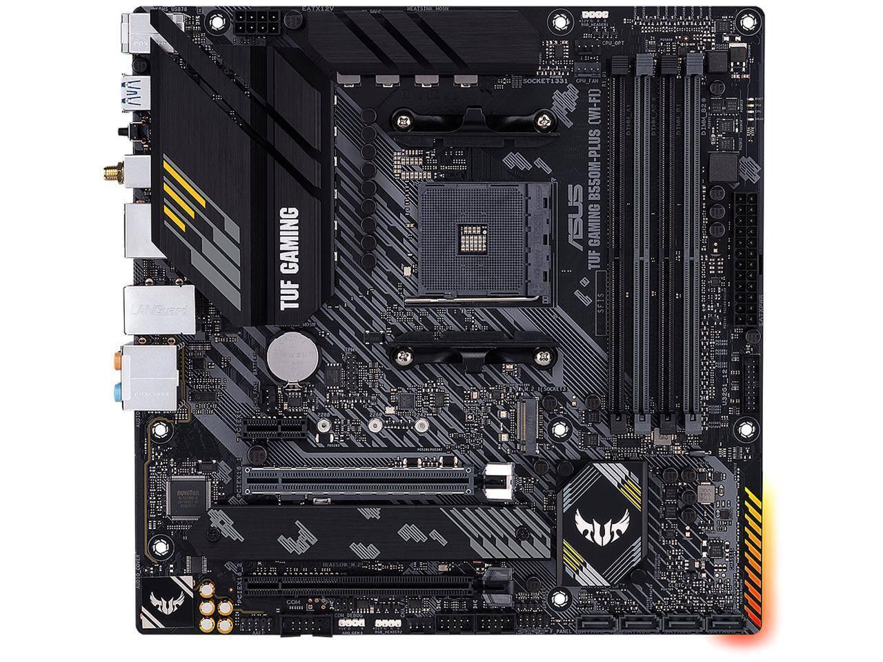 ASUS TUF GAMING B550M-PLUS (Wi-Fi) AM4 MATX Motherboard $150