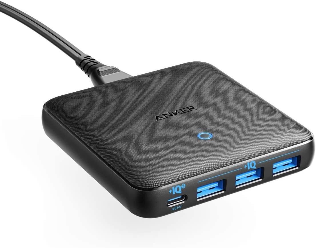 Anker 65W 4 Port PIQ 3.0 & GaN Desktop Charger $39.09 + FSSS