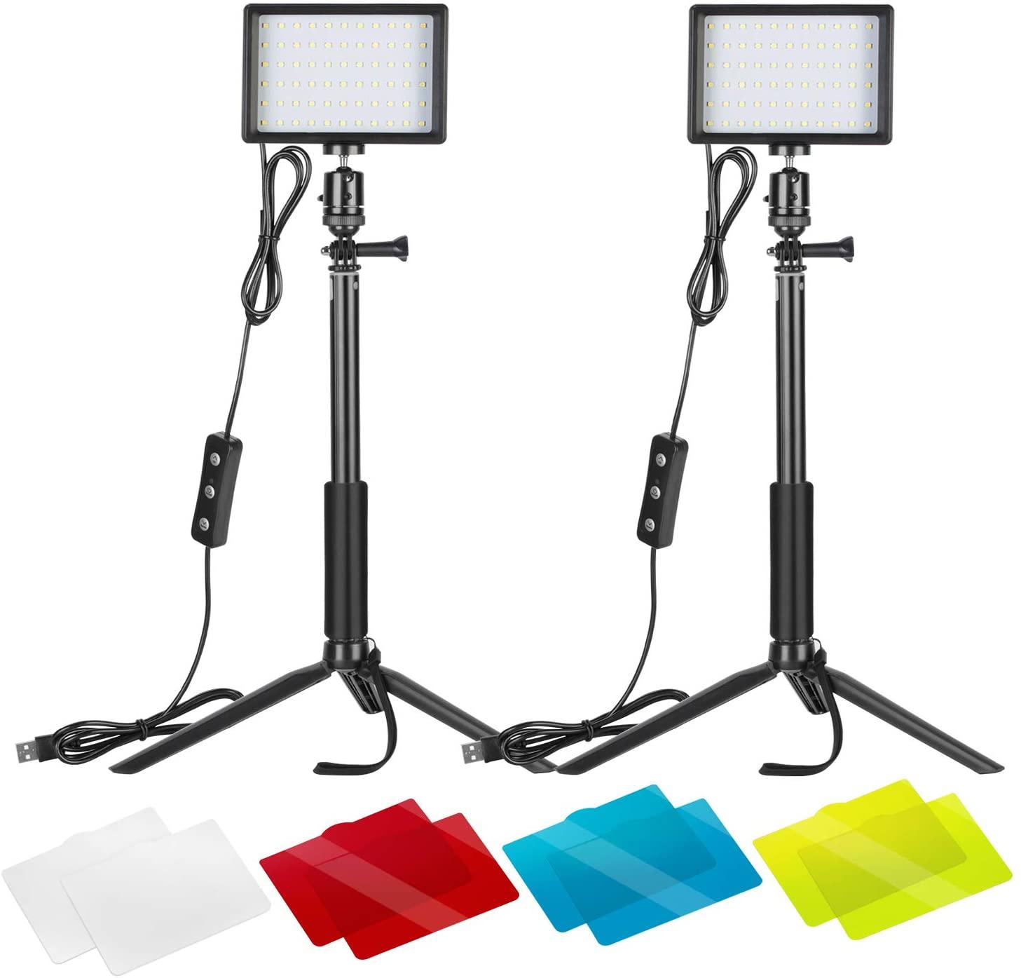 Neewer 2-Pack 5600K USB Video Lights - $22.50 AC + FSSS